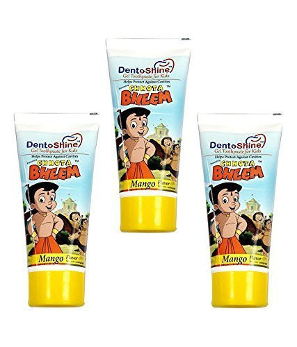 Buy 3  x Chhota Bheem Dento Shine Gel Toothpaste For Kids  80gms online for USD 22.57 at alldesineeds