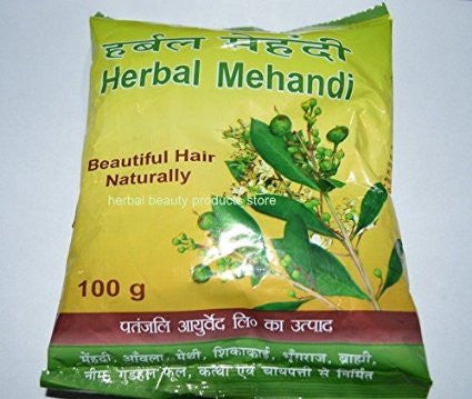 Buy Baba Ramdev - Patanjali Herbal Mehandi for Hair - 100g online for USD 6.5 at alldesineeds