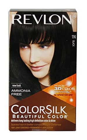 Buy Revlon Colorsilk Hair Color with 3D Color Technology Black 1N, 100g online for USD 17.06 at alldesineeds