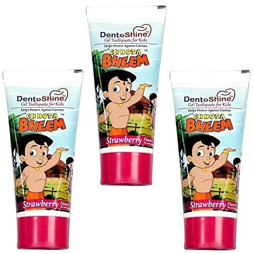 Buy Chhota Bheem Dento Shine Gel Toothpaste For Kids - Pack Of 3 X 80 gms online for USD 19.8 at alldesineeds