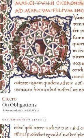Buy On Obligations: De Officiis [Paperback] [Jun 08, 2008] Cicero online for USD 17.7 at alldesineeds