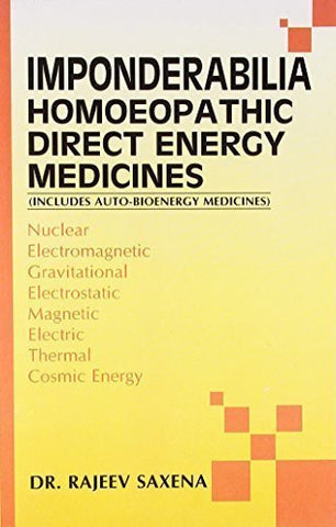 Buy Imponderabilia Homoeopathic Direct Energy Medicines [Paperback] [Jun 30, 2003 online for USD 12.28 at alldesineeds