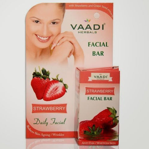 Buy Vaadi Herbals Facial Bar Strawberry 25g online for USD 8.9 at alldesineeds