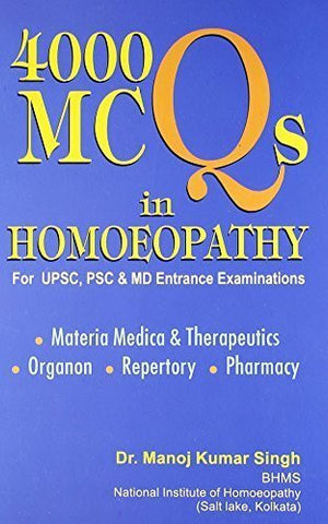 Buy 4000 MCQs in Homeopathy (For USPC, PSC and MD Entrance Examination, Includes online for USD 28.98 at alldesineeds
