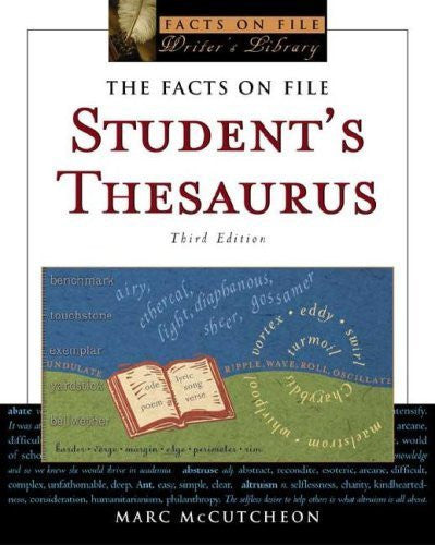 Buy Student's Thesaurus [Paperback] [Oct 01, 2005] Marc McCutcheon online for USD 33.28 at alldesineeds