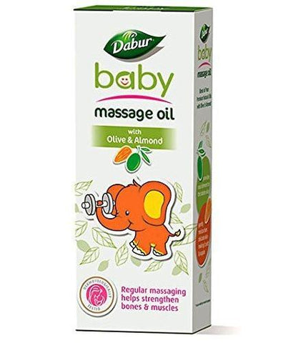 Dabur Baby Massage Oil with Olive and Almond - 200 ml - alldesineeds