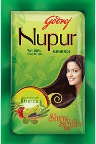 Buy Godrej Nupur Mehendi Powder 9 Herbs Blend, 150-gram (12 PACK) online for USD 26.74 at alldesineeds