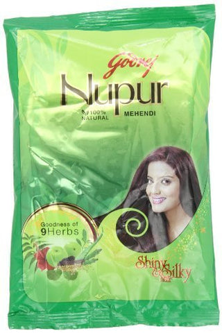 Buy Godrej Nupur Mehendi Powder 9 Herbs Blend, 150-gram online for USD 14.88 at alldesineeds