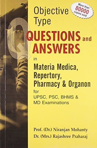 Buy Objective Type Question and Answer in Materia Medica Repertory Pharmacy online for USD 28 at alldesineeds