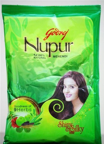 Buy Godrej Nupur Natural Mehndi with Goodness of 9 Herbs - 500 gm online for USD 16.86 at alldesineeds