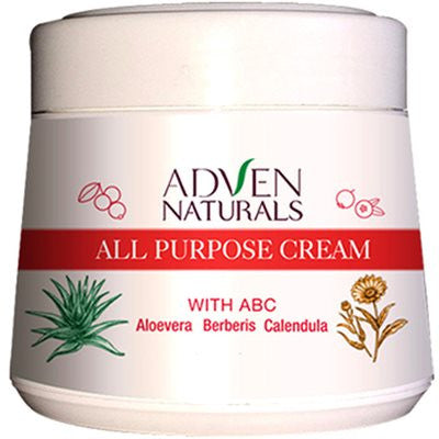 2 x 2 x Adven All Purpose Cream with Aloe Vera, Berberis, Calendula (50g)