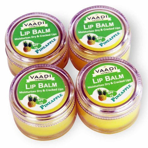 Buy Vaadi Herbals Lip Balm Pineapple 4x10g online for USD 12.86 at alldesineeds