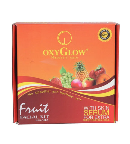 2 Pack Oxyglow Fruit Facial Kit, 73gms each - alldesineeds