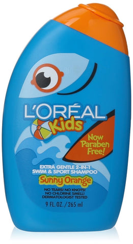 Buy L'Oreal Paris Kids 2-in-1 Extra Gentle Swim & Sport Shampoo Splash of Sunny Orange 9-Fluid Ounce online for USD 18.96 at alldesineeds