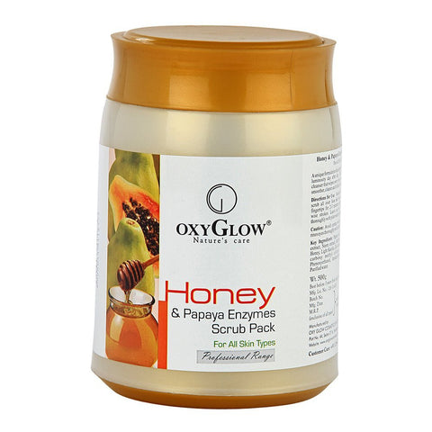 Oxyglow Honey and Papaya Enzymes Scrub Pack, 500g - alldesineeds
