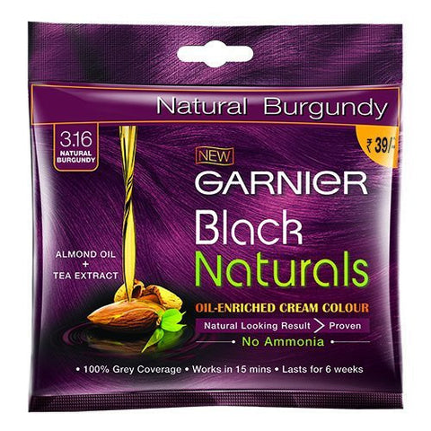 Buy 5 Pack Garnier Black Naturals Shade Natural Burgundy 3.16, 20ml+20g each online for USD 12.45 at alldesineeds