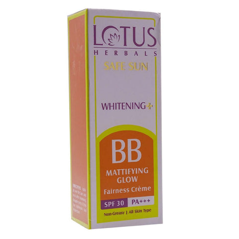 Buy Lotus Safe Sun BB Mattifying Glow SPF30,PA+++,20gm online for USD 8.95 at alldesineeds