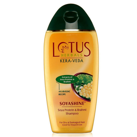Buy Lotus Herbals Kera-Veda Soyashine Soya Protein and Brahmi Shampoo, 200ml online for USD 10.35 at alldesineeds