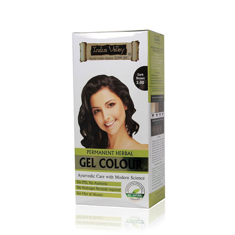 Buy 2 PackIndus Valley Permanent Herbal Hair Colour- Dark Brown Kit online for USD 25.5 at alldesineeds