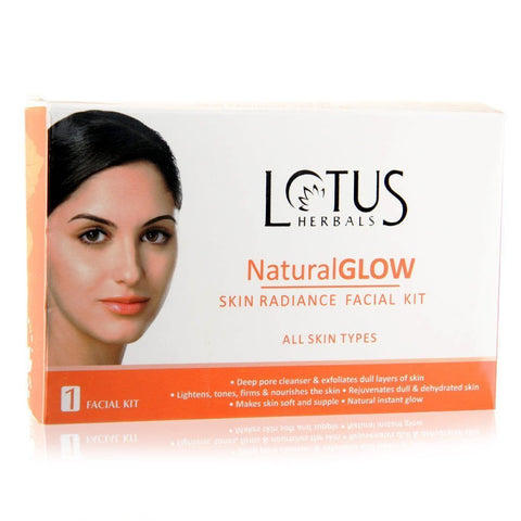 Buy Lotus Herbals Natural Glow Kit Skin Radiance 1 Facial Kit online for USD 11 at alldesineeds