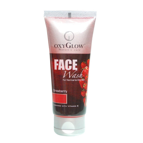 2 Pack Oxyglow Strawberry Face Wash, 100ml each - alldesineeds