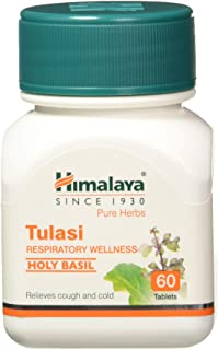 10 Pack of Himalaya Wellness Pure Herbs Tulasi Respiratory Wellness | Holy Basil |Relieves cough and cold| - 60 Tablets