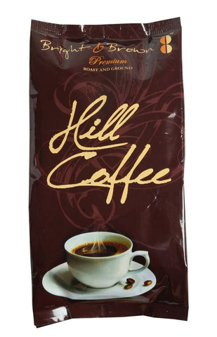 Bright & Brown Hill Coffee - Premium Quality Roasted Ground Coffee - 250 gms - alldesineeds