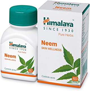 10 Pack of Himalaya Wellness Pure Herbs Neem Skin Wellness | Controls acne | Tablets - 60 Count