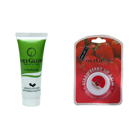 2 Pack Oxyglow Essence Of Clove Anti Pimple Face Pack, 35gms - alldesineeds