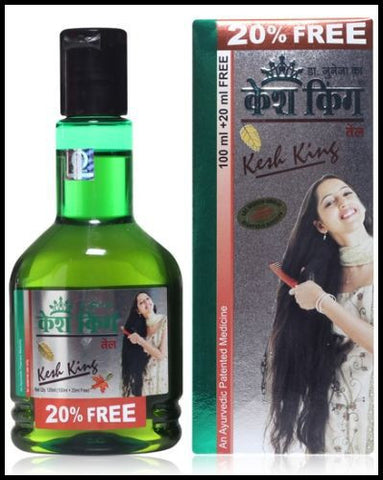 Buy 2 Pack KESH KING HERBAL AYURVEDIC HAIR OIL FOR HAIR GROWTH 100 ML each online for USD 11.9 at alldesineeds