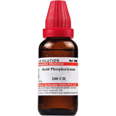 Buy 2 x Willmar Schwabe India Acid Phosphoricum 200 CH (30ml) each online for USD 16.29 at alldesineeds