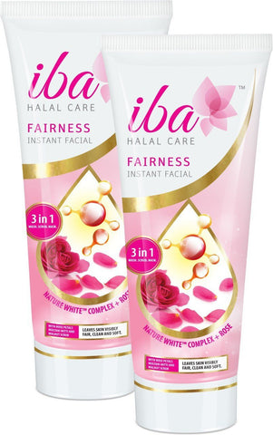 2 Pack Iba Halal Care Fairness Instant Facial, 100g each - alldesineeds