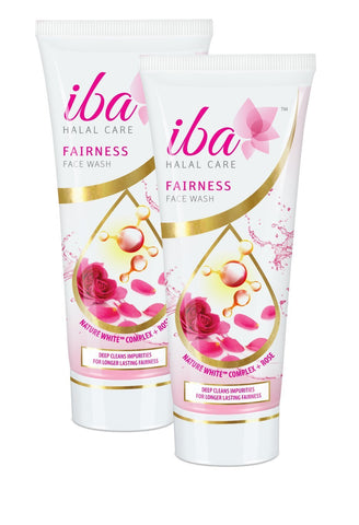 2 Pack Iba Halal Care Fairness Face Wash, 100ml each - alldesineeds