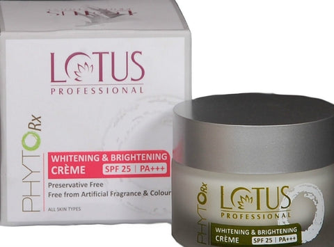 Buy Lotus Herbals Professional Phyto-Rx Whitening & Brightening Creme, 50g online for USD 11 at alldesineeds