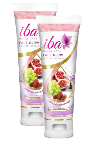 2 Pack Iba Halal Care Face Glow Exfoliating Wash, 100ml  each - alldesineeds