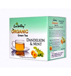 Organic Green Tea W/ Dandelion & Mint - 30 TBs- Eco Valley