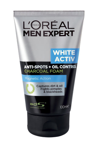 Buy L'Oreal Men Expert White Activ Oil Control Charcoal Foam, 100ml online for USD 14.89 at alldesineeds