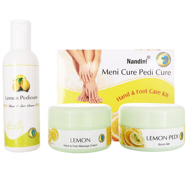 Nandini Mani Cure Pedi Cure Hand and Foot Care Kit, 400g + 200ml - alldesineeds