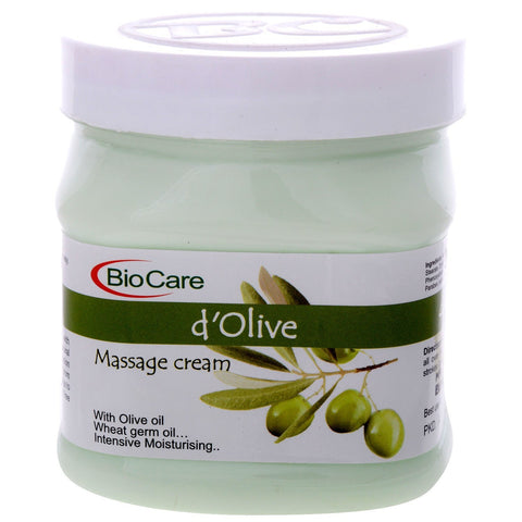 D'OLIVE MASSAGE CREAM With Olive oil Wheat germ oil, Intensive Moisturising 500ml - alldesineeds