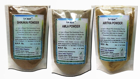 Buy Le'ayur Combo Of Amla + Aritha+ Shikakai Powders, 300Grams (100Gramsx3) online for USD 12.85 at alldesineeds