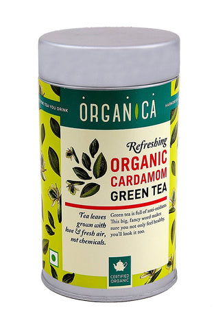 Green Tea Elaichi - Organica 100 gms each