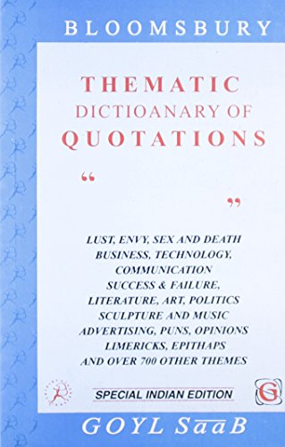Thematic Dictionary Of Quotations