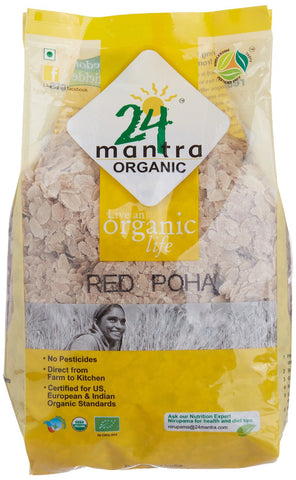 Buy 24 Letter Mantra Organic Red Poha 500 g online for USD 17.49 at alldesineeds