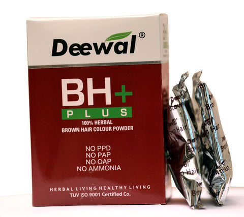 Buy Deewal BH+ Plus Hair Color Unisex (Natural Black-120GMS each) Brown online for USD 15.5 at alldesineeds