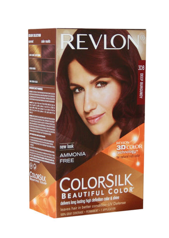 Buy 2 Pack Revlon Colorsilk Hair Color With 3D Color Technology 3Db (Deep Burgundy) online for USD 17.85 at alldesineeds