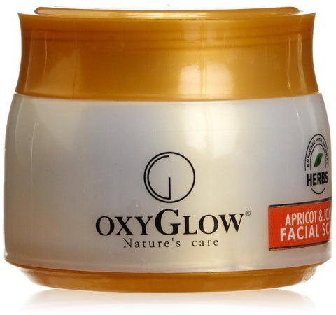 2 Pack Oxyglow Apricot and Jojoba Facial Scrub, 200gms each - alldesineeds