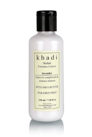 Buy 5 X Khadi Lavender Herbal Fairness Lotion Shea Butter & Paraben Free, 210 ml each online for USD 75.29 at alldesineeds