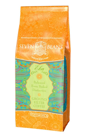 Seven Beans Coffee Company's Eka Filter Coffee, Ground, 250 gm - alldesineeds