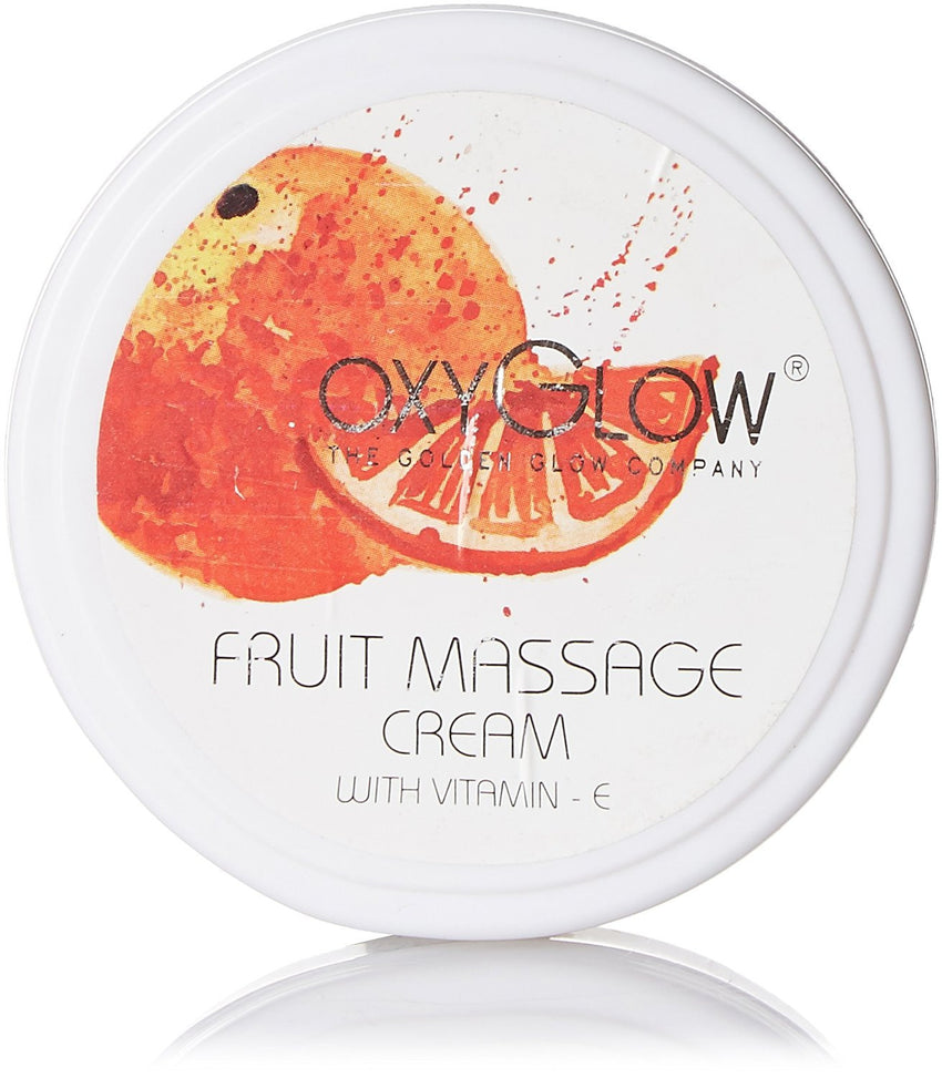 Buy 2 Pack Oxyglow Fruit Massage Cream With Vitamin E, 100gms each online for USD 14 at alldesineeds