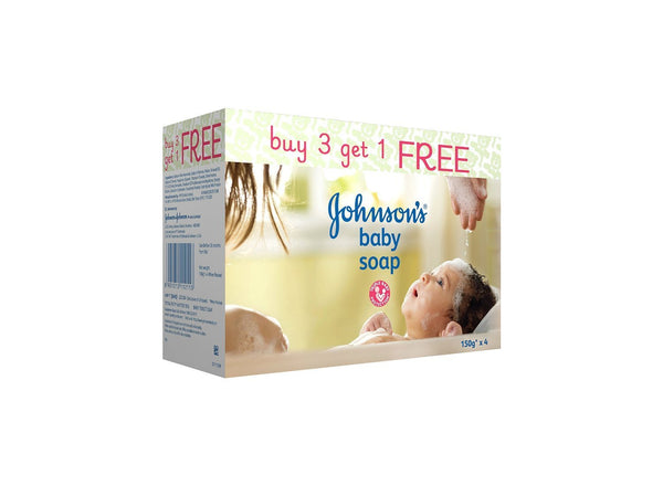 Johnson's Baby Soap, 150g (3+1 offer Pack) - alldesineeds